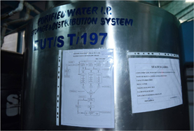 PURIFIED WATER S.S.316L STORAGE TANK FOR P.WATER CIRCULATION LOOP
